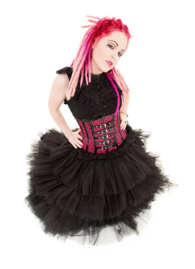 różowy dziewczyna ruch punków obrazy stock