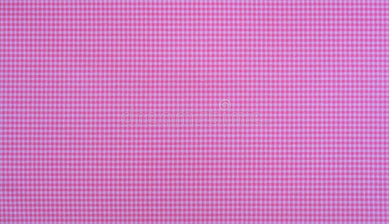 Różowy firebrick gingham wzoru tekstury tło zdjęcie royalty free