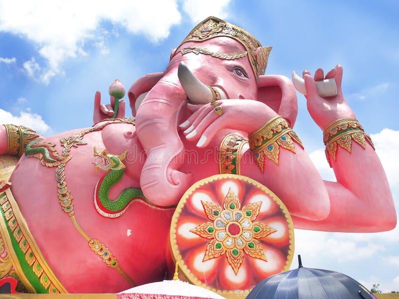 Różowy ganesh bóg przy Thailand fotografia stock