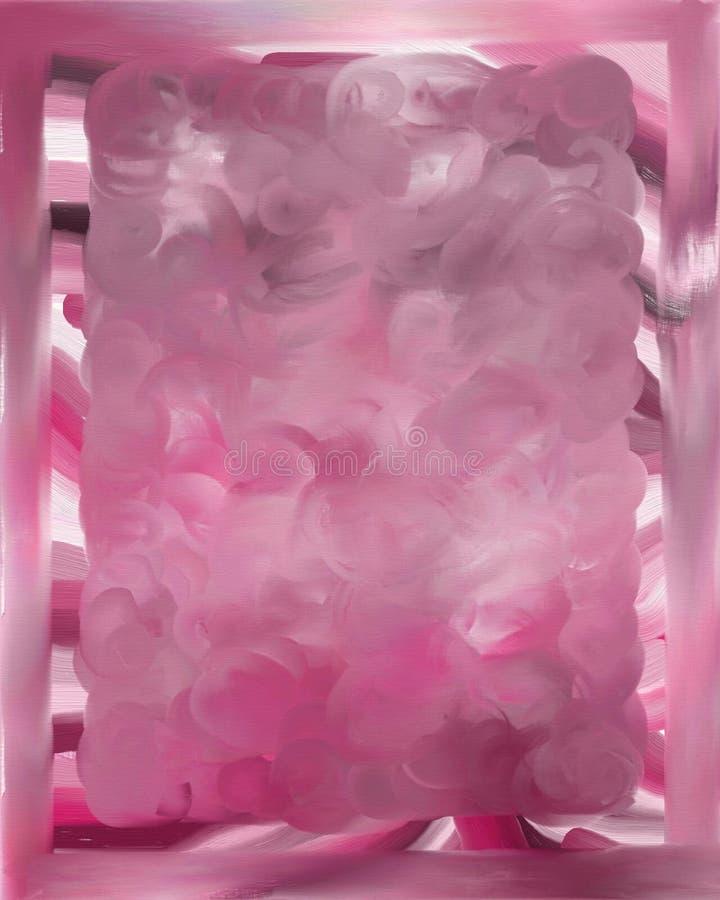 różowy graniczyć tło royalty ilustracja