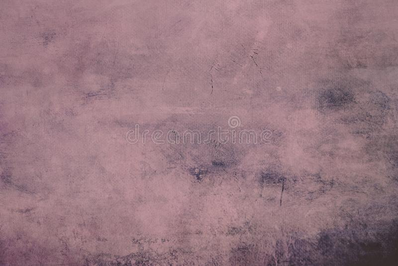 Różowy grungy brezentowy tło lub tekstura z ciemną winietą zdjęcie stock