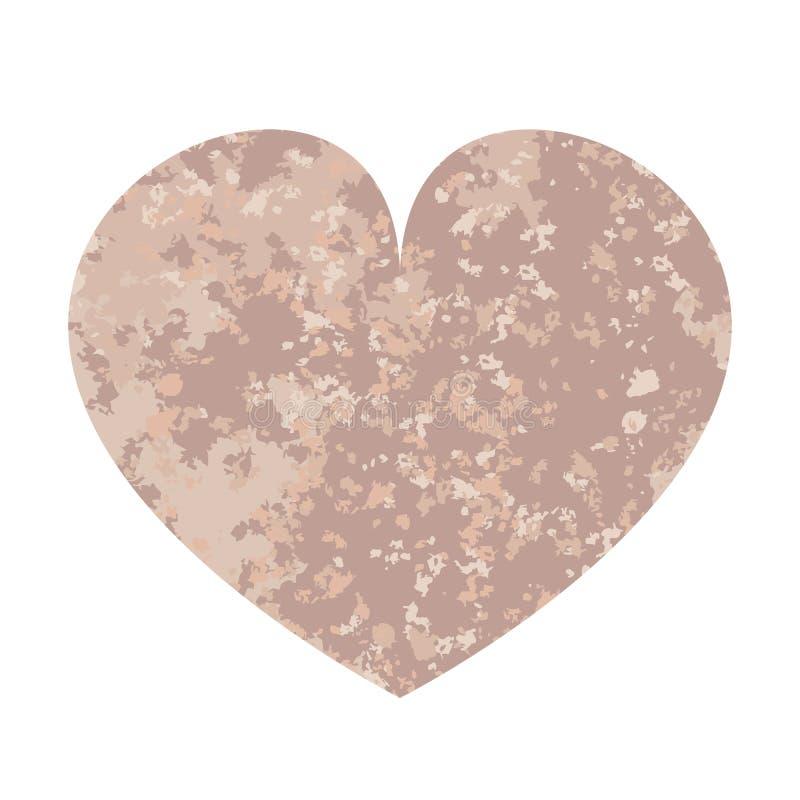 Różowy i szary serce ilustracja wektor