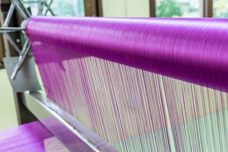 Różowy jedwabniczy tkactwo fotografia stock