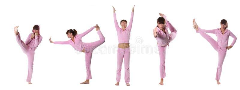 różowy joga fotografia royalty free