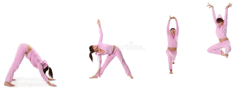 różowy joga obraz stock