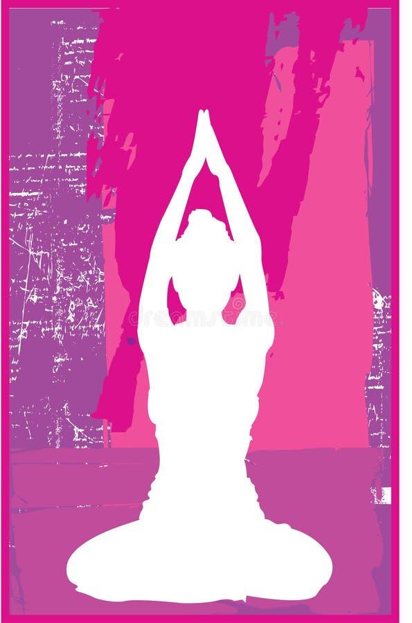 różowy jogi royalty ilustracja
