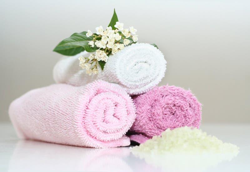 różowy kąpiele akcesoria zdjęcie stock