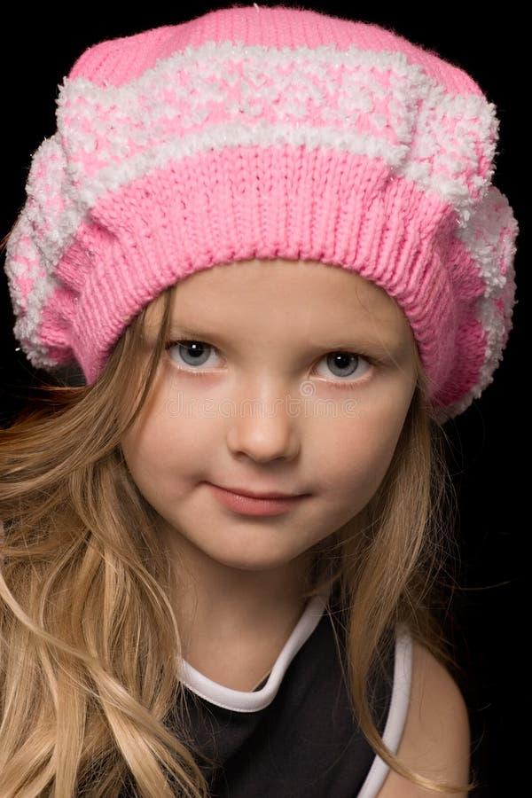 różowy kapelusz. zdjęcie stock