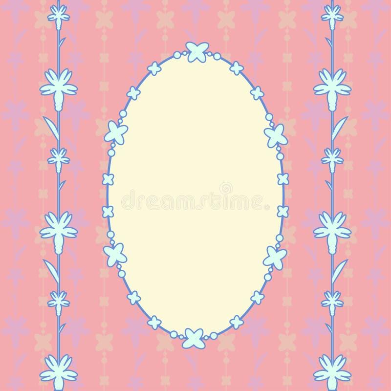 Różowy karciany owal royalty ilustracja