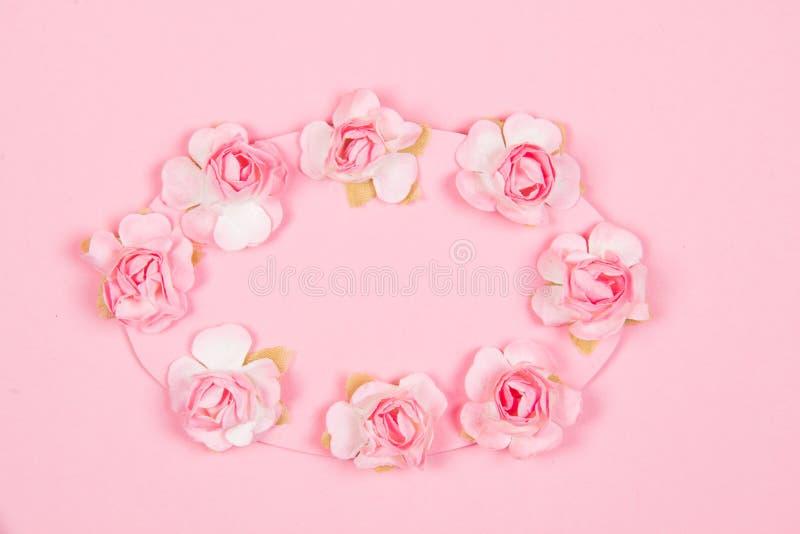 Różowy kartka z pozdrowieniami zdjęcie royalty free