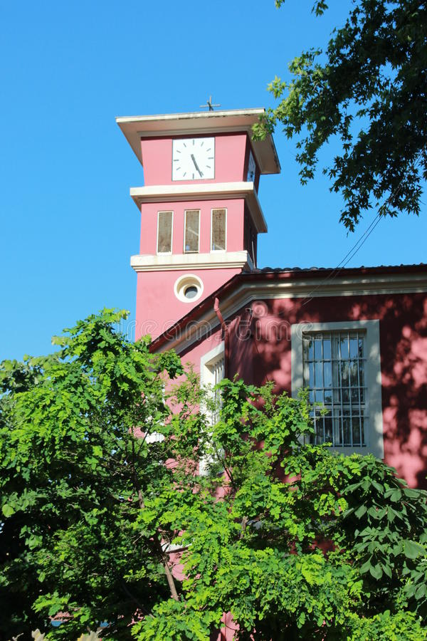 różowy kościoła obraz stock