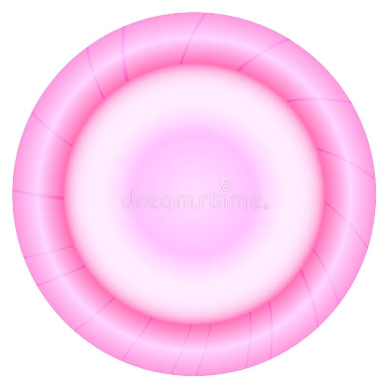 Różowy kondom ilustracji
