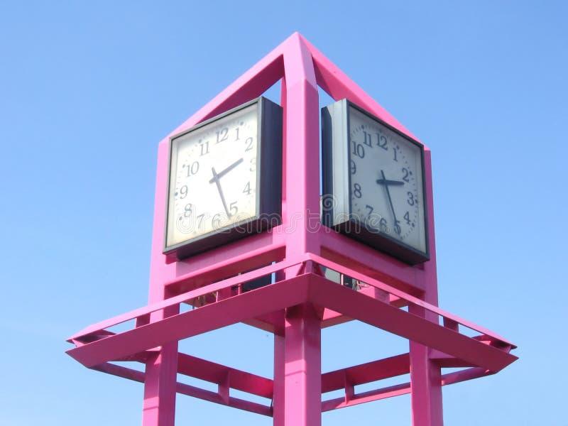 różowy konstrukcyjne zegarowe zdjęcie royalty free