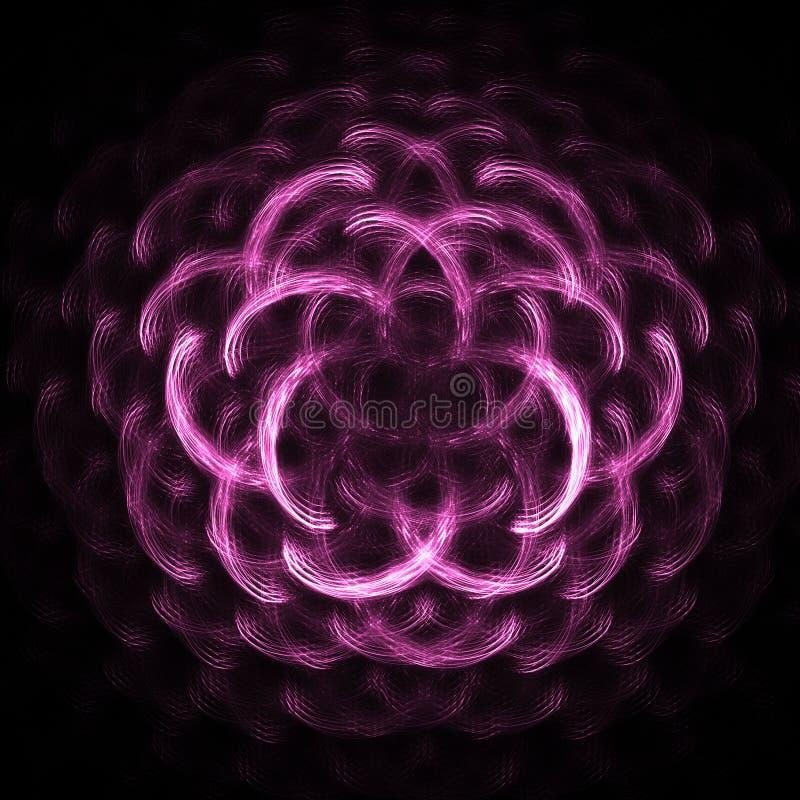różowy krzyw ilustracja wektor