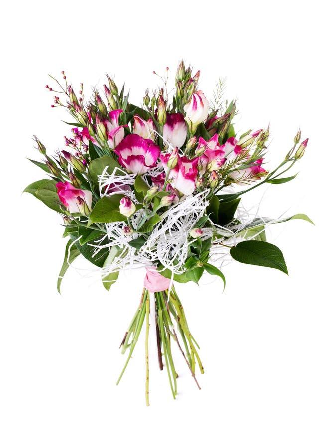 Różowy kwiatu bukieta przygotowania centerpiece obraz stock