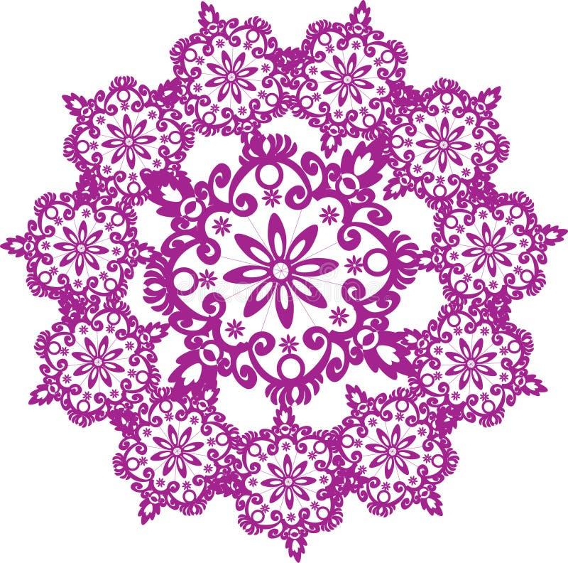 różowy kwiatu round royalty ilustracja