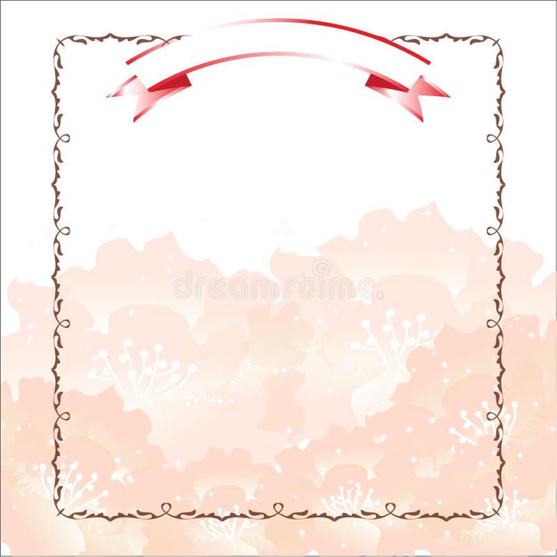 Różowy kwiatu szablon zdjęcie royalty free