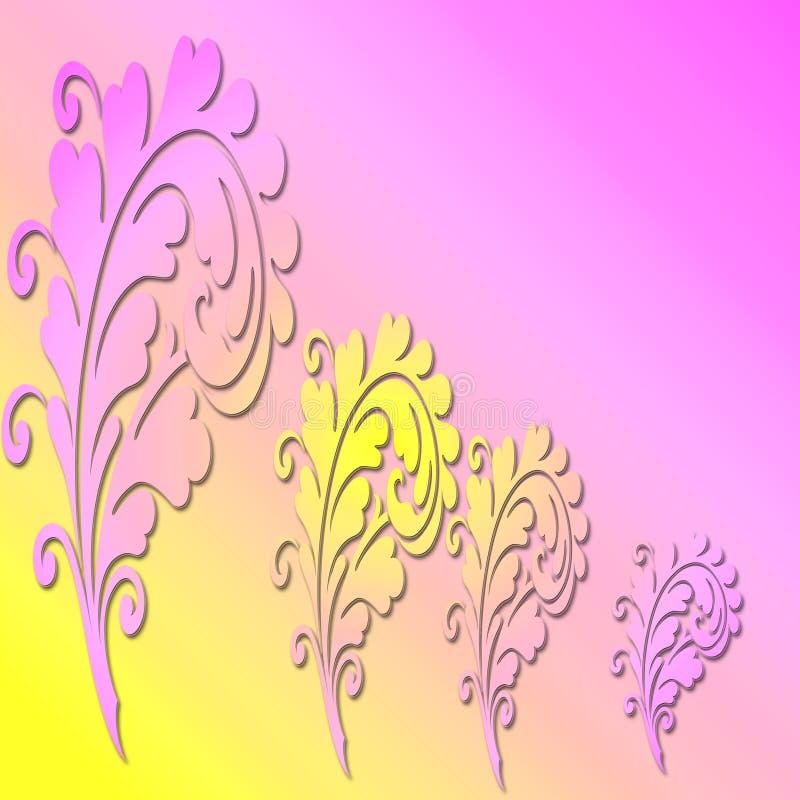 Download Różowy Kwiecisty Tło I Kolor żółty Ilustracji - Ilustracja złożonej z znak, plakat: 57667427
