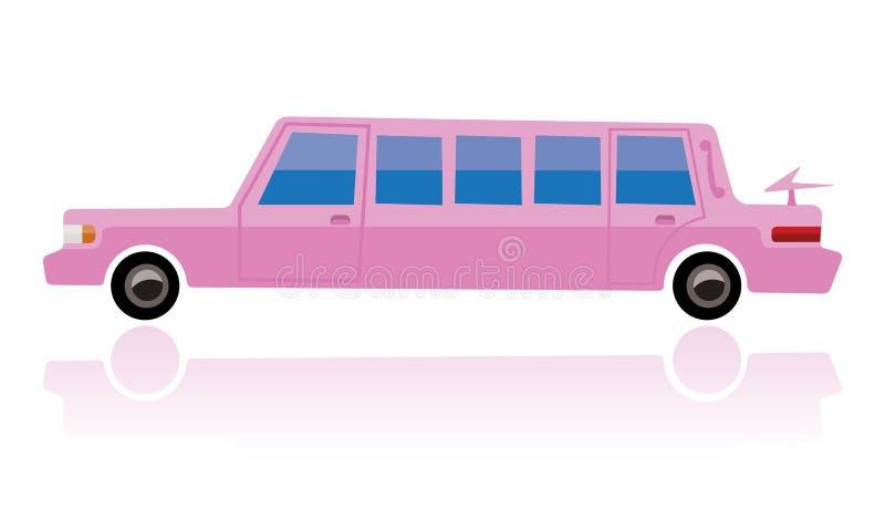 Różowy limo, śmieszny kreskówka styl royalty ilustracja