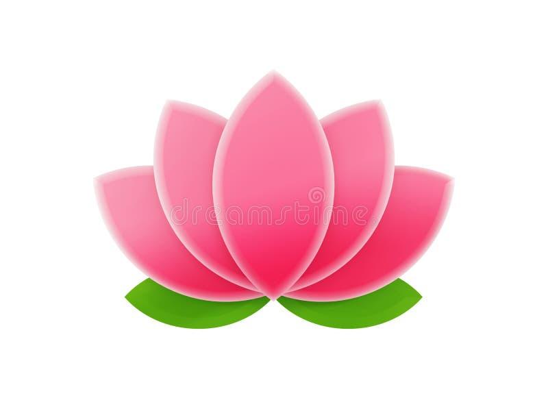 Różowy lotos ilustracja wektor