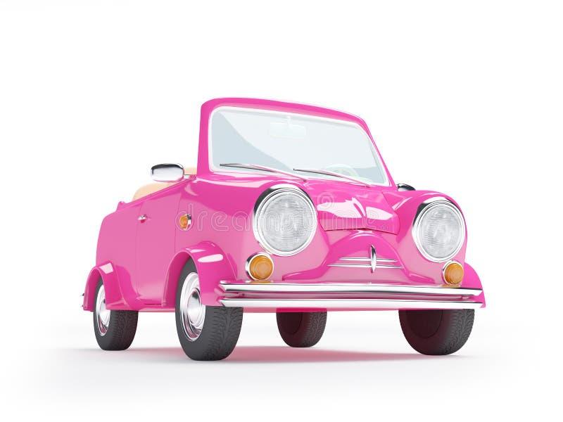 Różowy mały samochód ilustracji