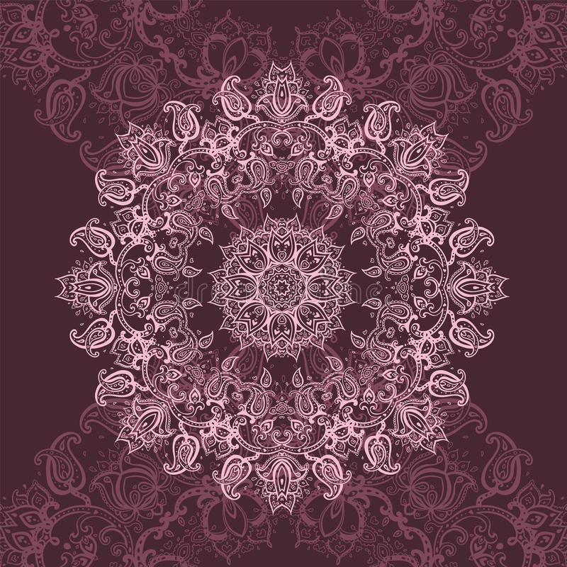 Różowy mandala ilustracja wektor