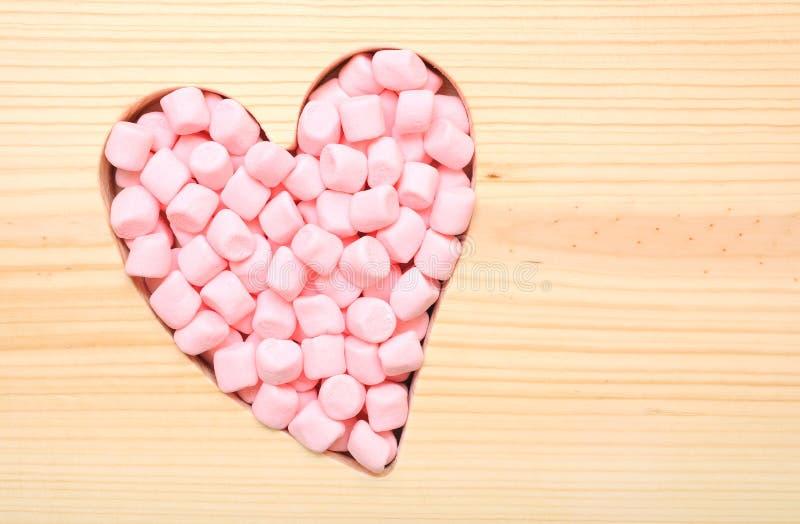 Różowy marshmallow dla valentine zdjęcia stock