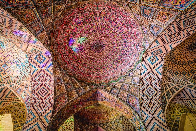 Różowy meczet w Shiraz zdjęcia royalty free