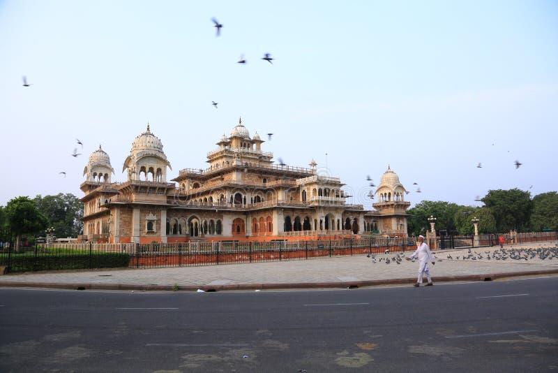 Różowy miasta Jaipur Albert muzeum obraz stock