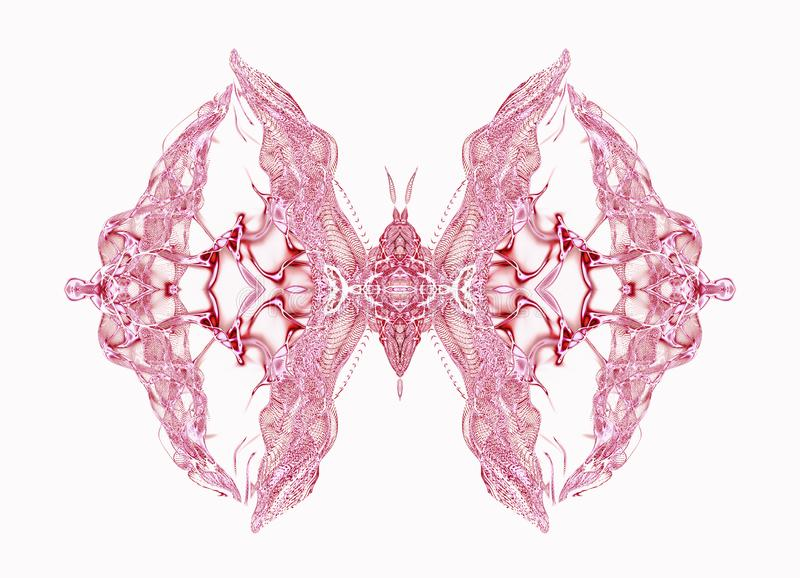 Różowy motyl nad miękkiego światła tłem royalty ilustracja
