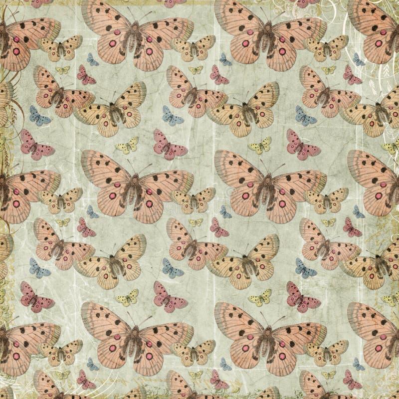 Różowy motyli powtórki wzoru tło zdjęcie royalty free
