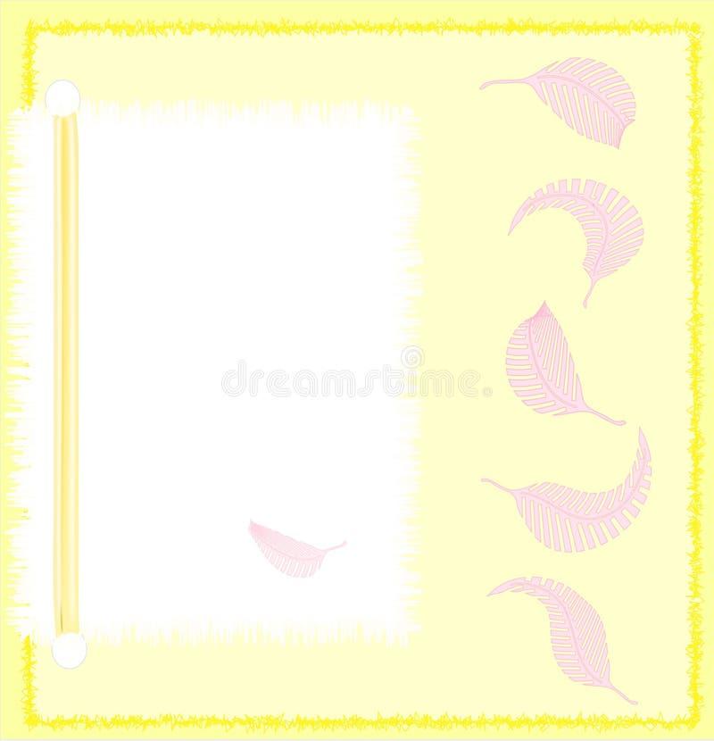 różowy notecard żółty ilustracji