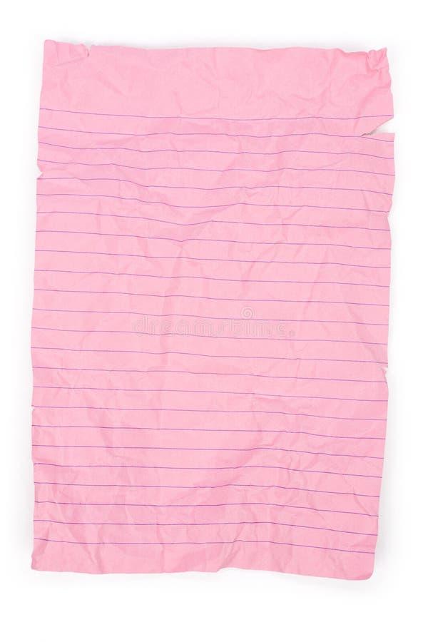 różowy notepaper obraz royalty free