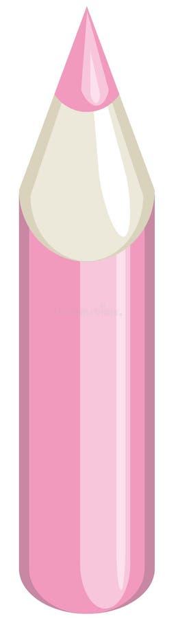 różowy ołówek ilustracja wektor
