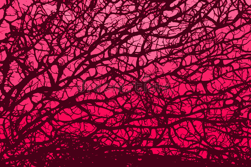 różowy oddziału światła royalty ilustracja