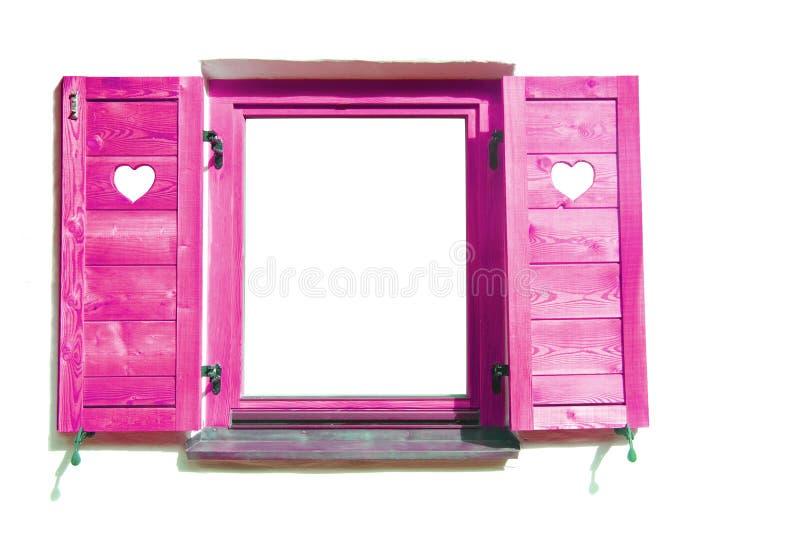 różowy okno obraz royalty free