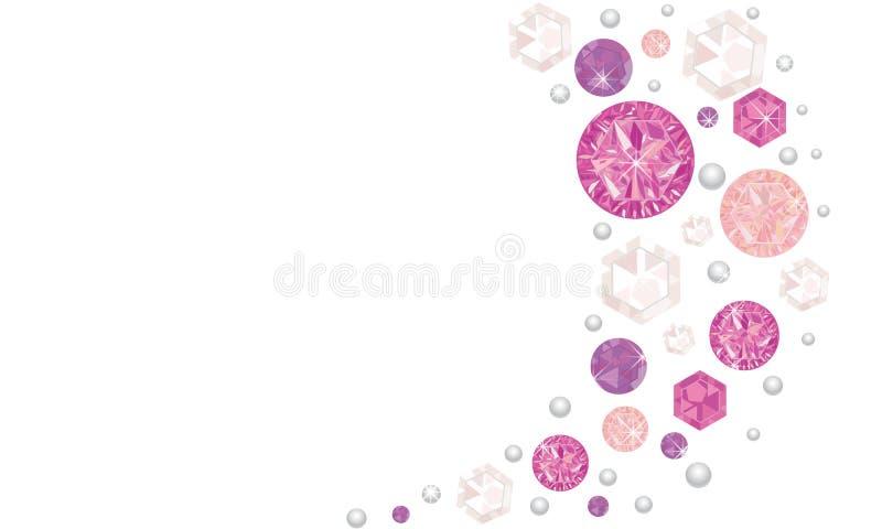 Różowy olśniewający karowy wektorowy tło royalty ilustracja
