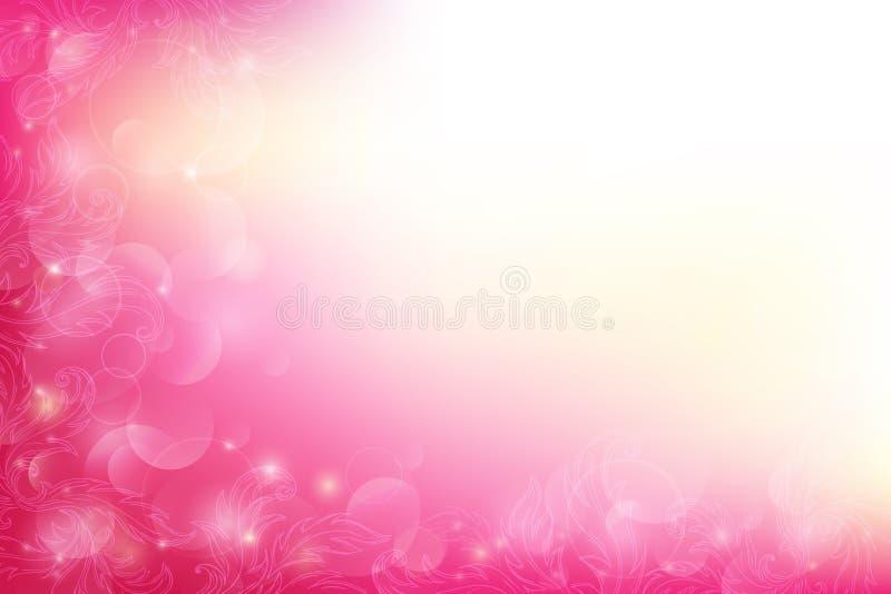 Różowy ornamentacyjny tło z bokeh zdjęcia royalty free