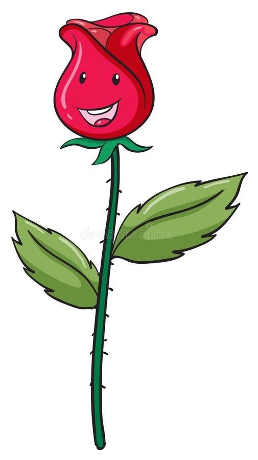 Różowy pączek i roślina ilustracja wektor