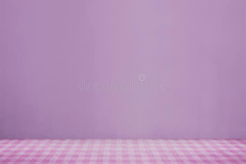 Różowy płótno na stole fotografia royalty free
