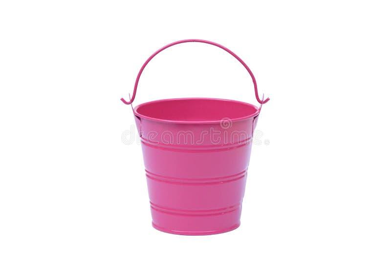 Różowy pail obraz stock