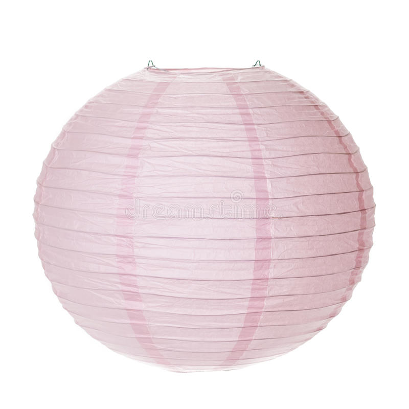 Różowy Papierowy lampion zdjęcie royalty free