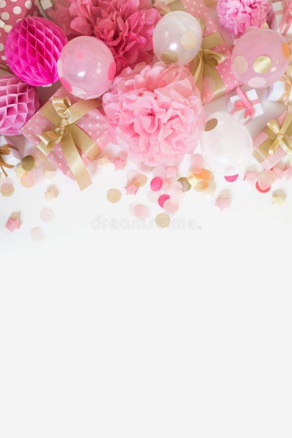 Różowy Partyjny tło zdjęcia royalty free