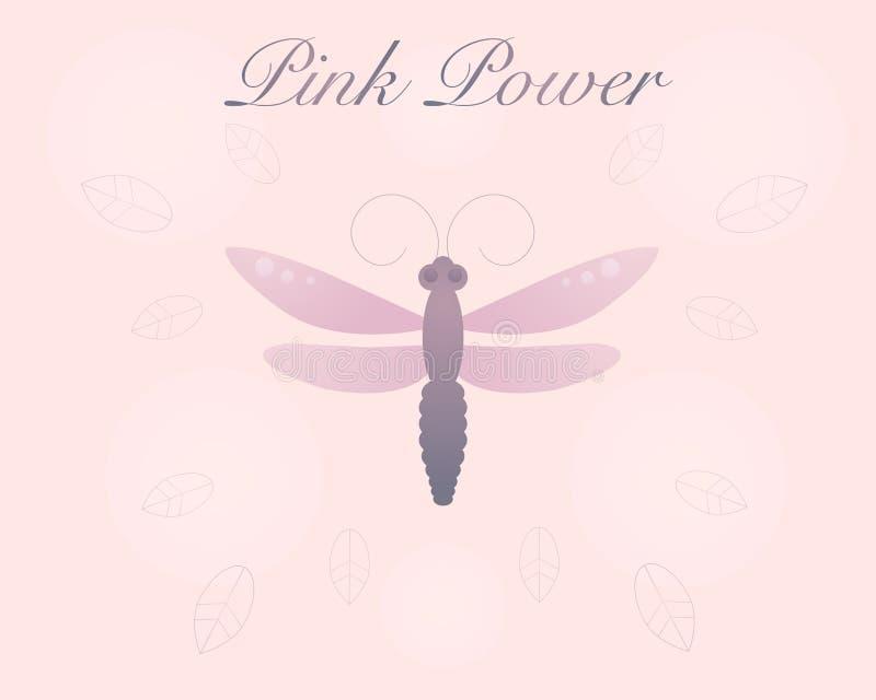 Różowy pastelowy dragonfly zdjęcie stock
