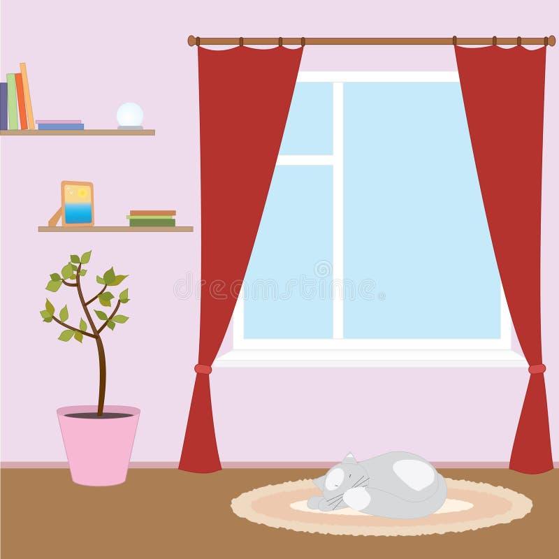 różowy pokój ilustracji