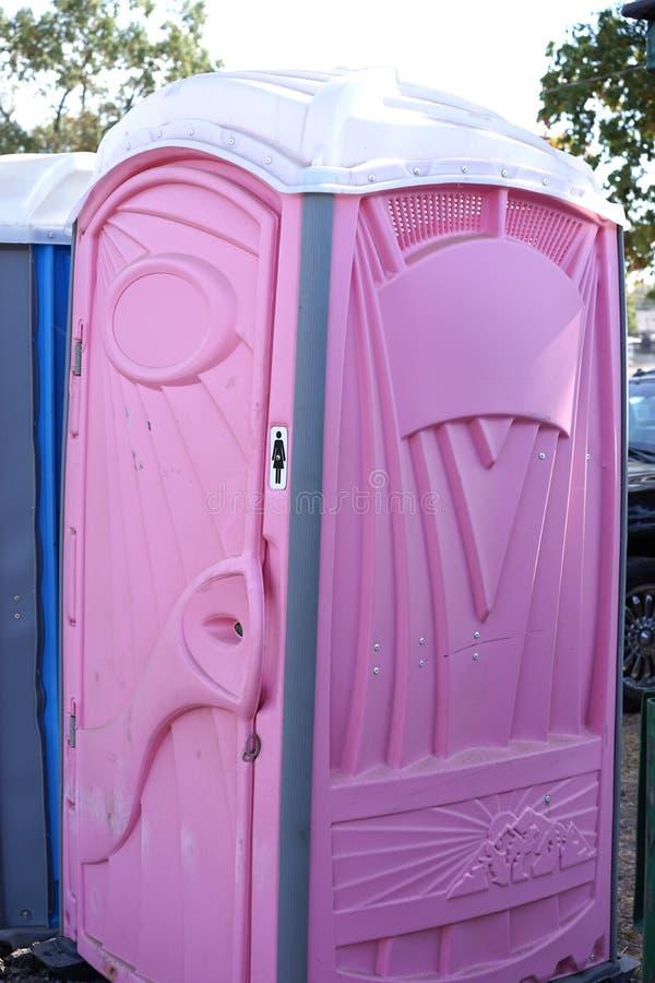 Różowy Porta Potty obrazy royalty free