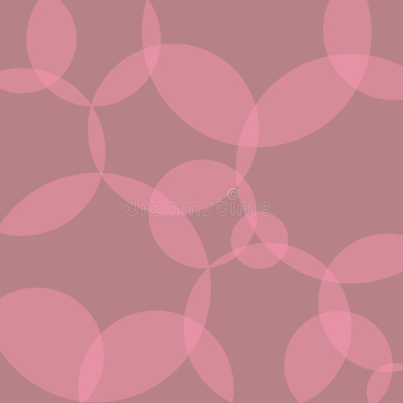Różowy przejrzysty okręgu wzór ilustracji