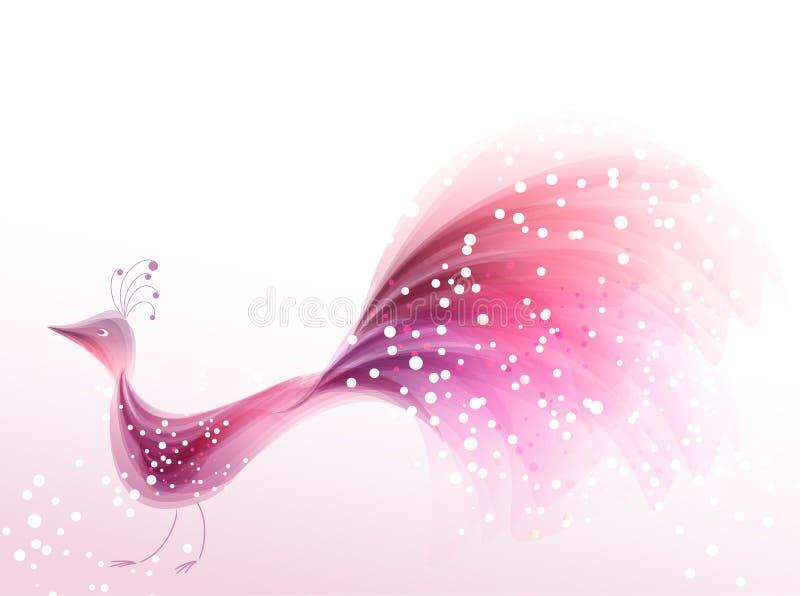 Różowy ptak ilustracji