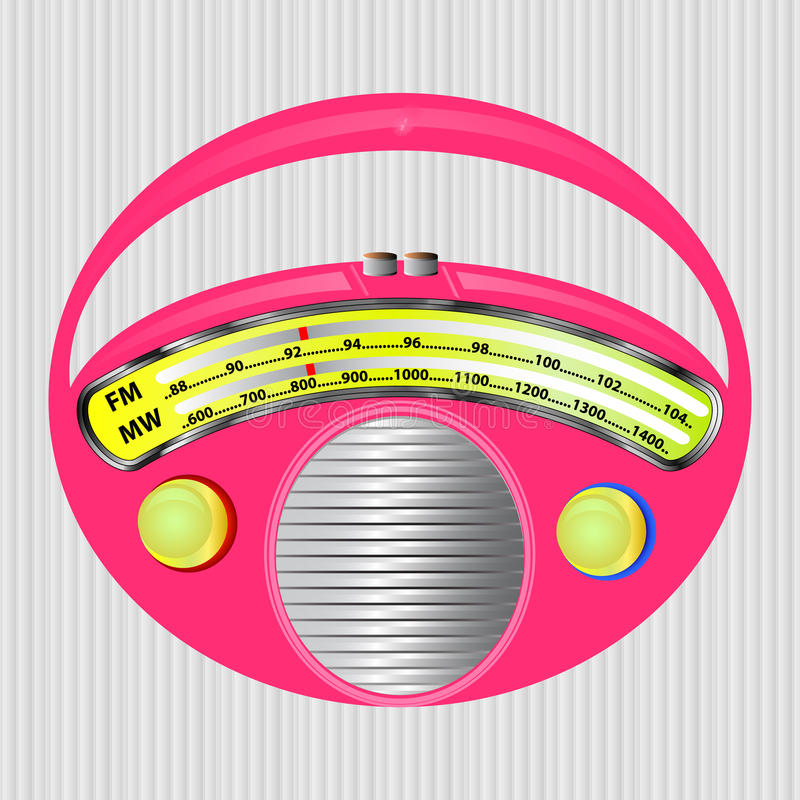 różowy radio obraz stock