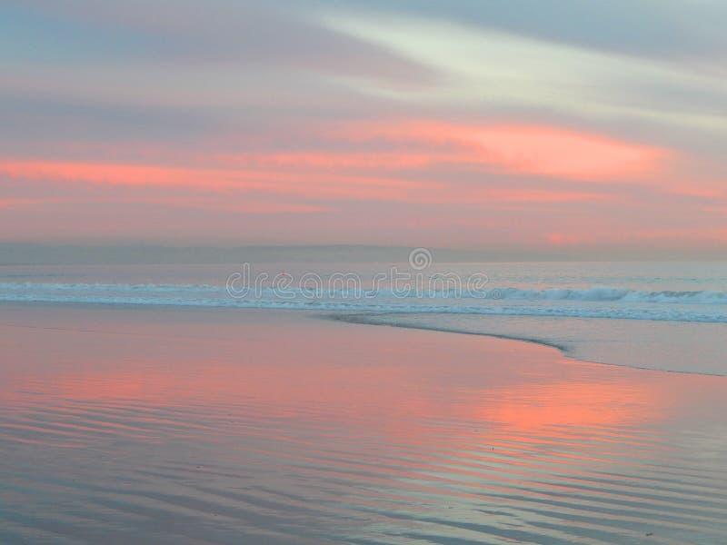 Różowy raju zmierzch na Coronado wyspie zdjęcie stock